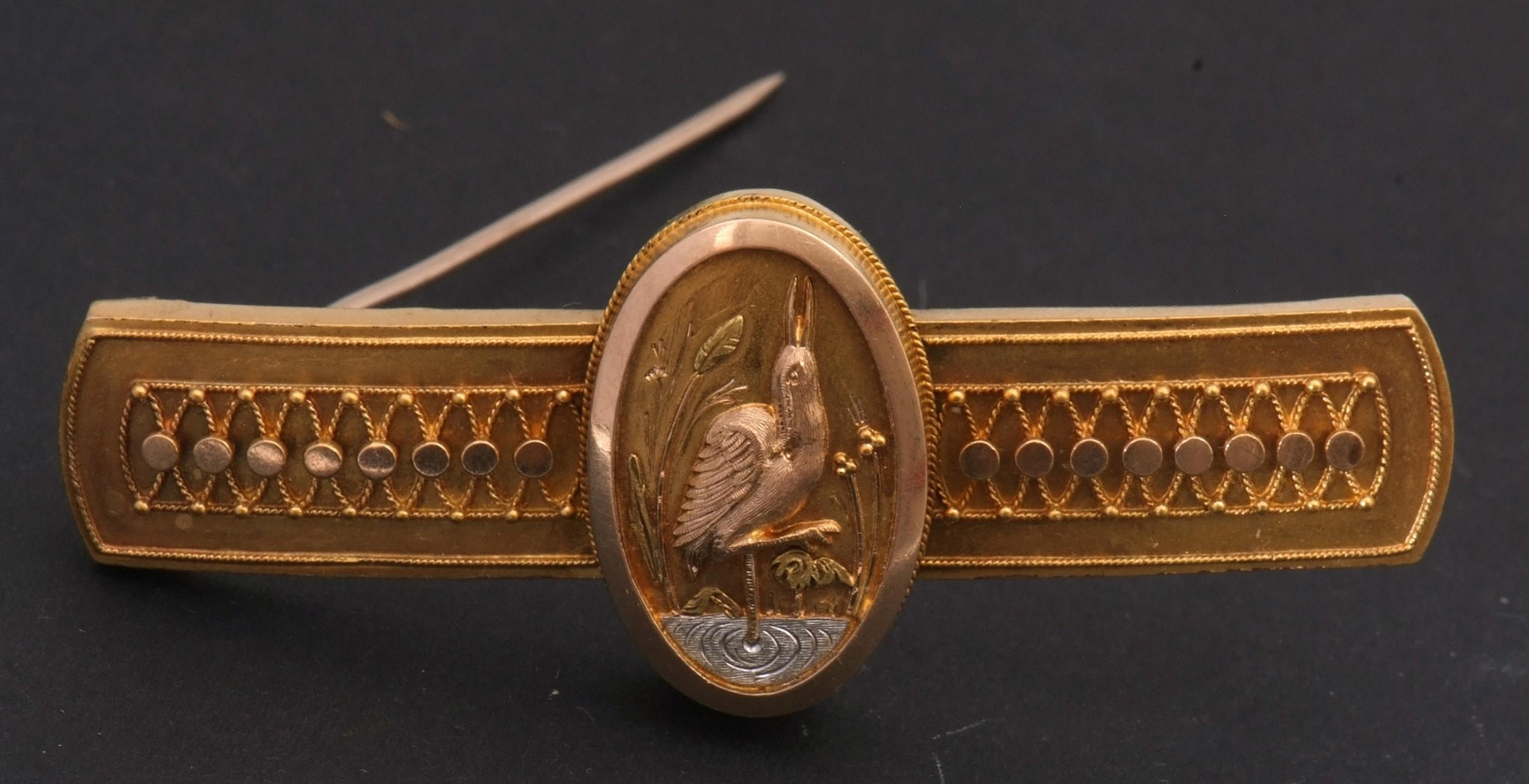 18ct arts crafts brooch