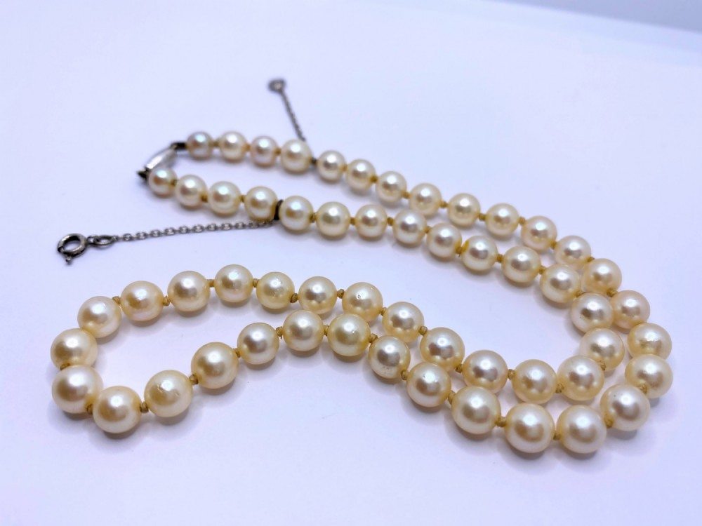 ciro cultured string of pearls and ciro pearl stud earrings