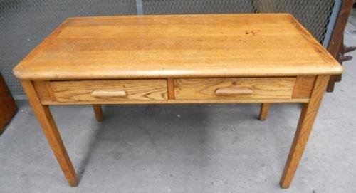 Light Oak Two Drawer Writing Table Desk