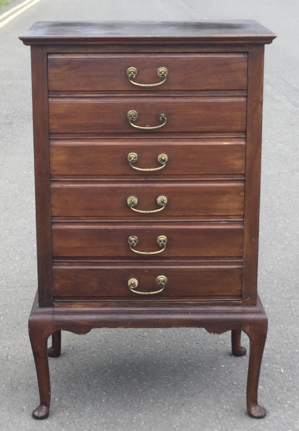 edwardian mahogany sheet music cabinet