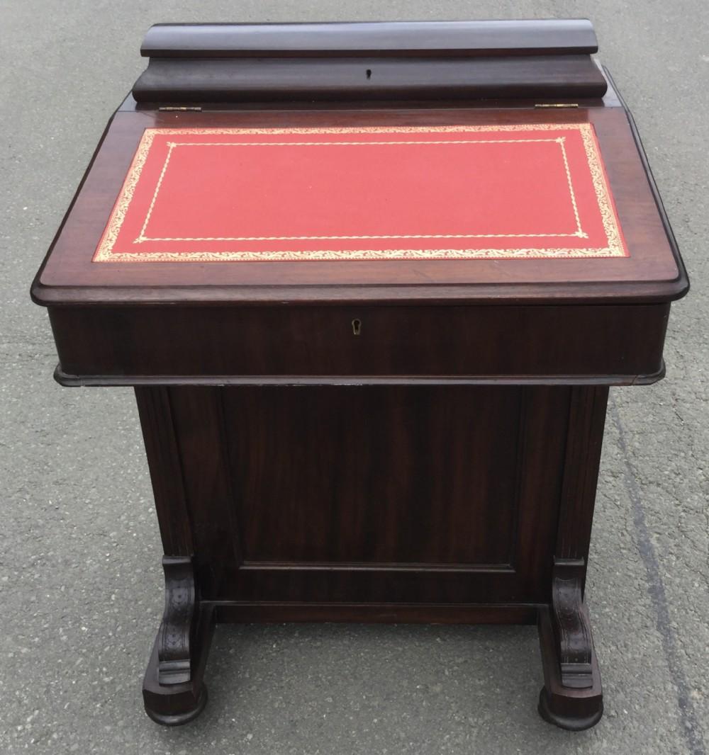 edwardian mahogany davenport desk