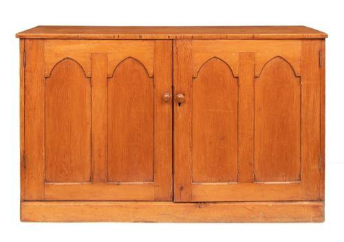 mid 19th century victorian pine cupboard