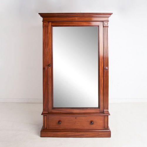 victorian mahogany single wardrobe c1870