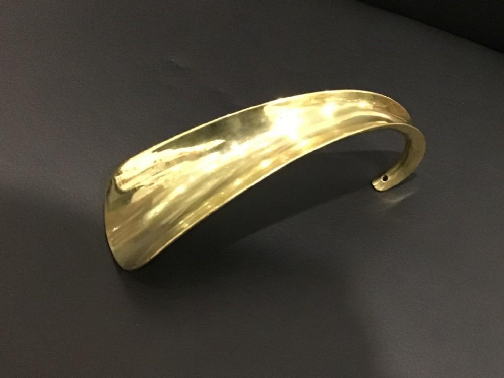 large victorian brass shoe horn