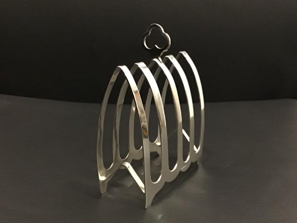 stylish silver toast rack