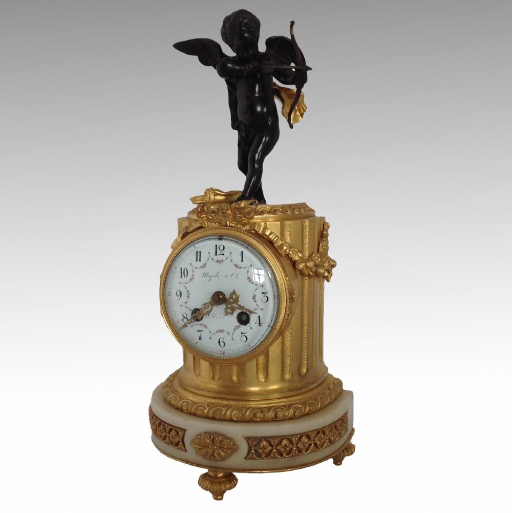 maple co marble gilt bronze mantel clock