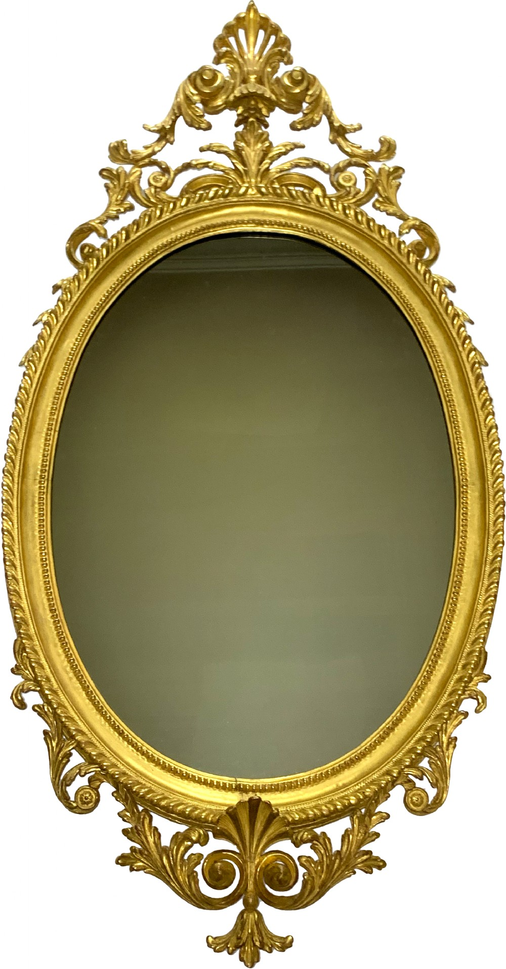 antique victorian carved giltwood mirror