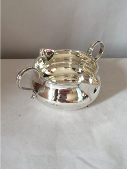 silver george v double lipped sauceboat 1925 london