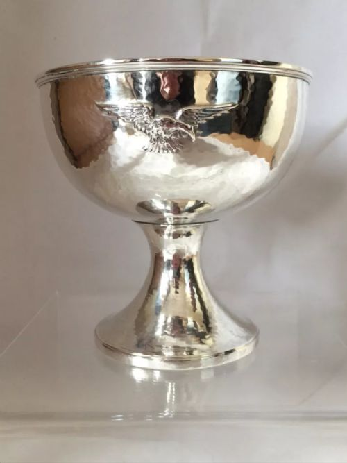large silver arts crafts goblet 1934 london c s harris