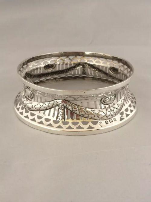 silver dish stand 1910 birmingham williams ltd rare small size