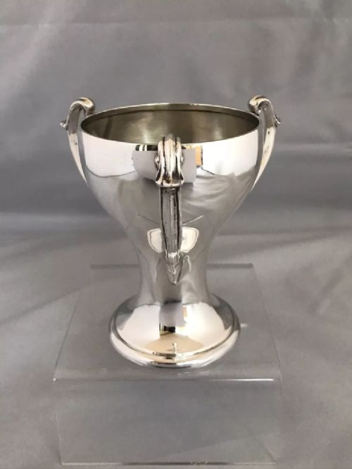 silver arts crafts style three handled cup 1929 birmingham charles usher