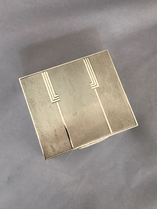 solid silver art deco box 1937 london mappin webb