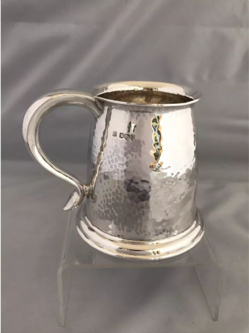 silver arts crafts beer mug 1929 james dixon sons