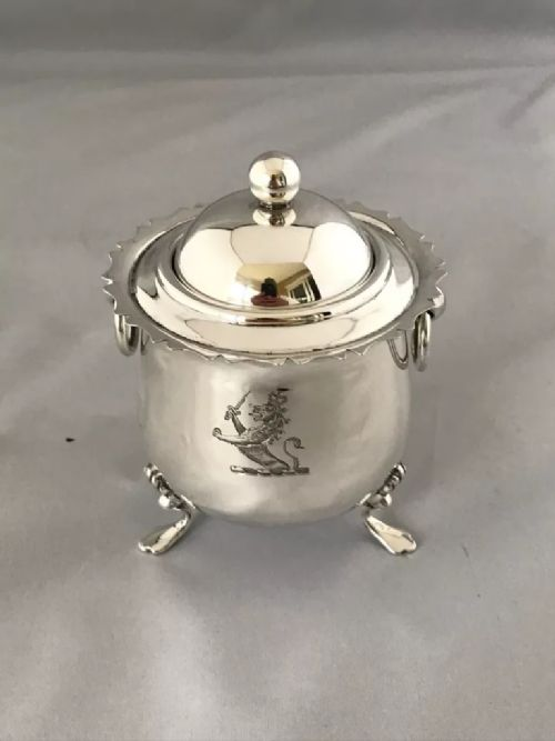 antique silver edwardian crested tea caddy 1900 walker hall