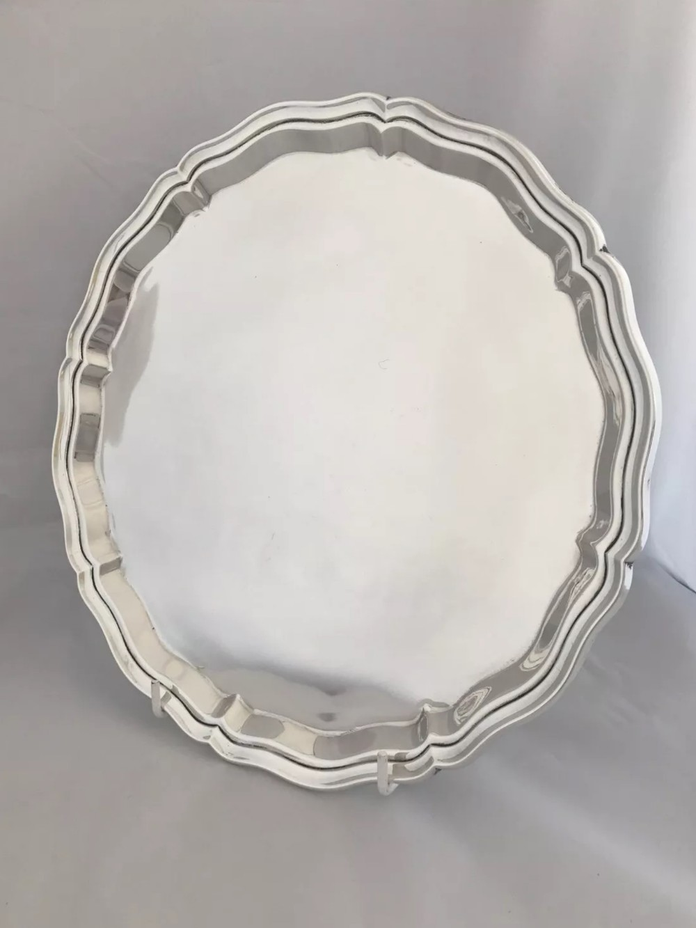 large solid silver salver or drinks tray 1914 birmingham