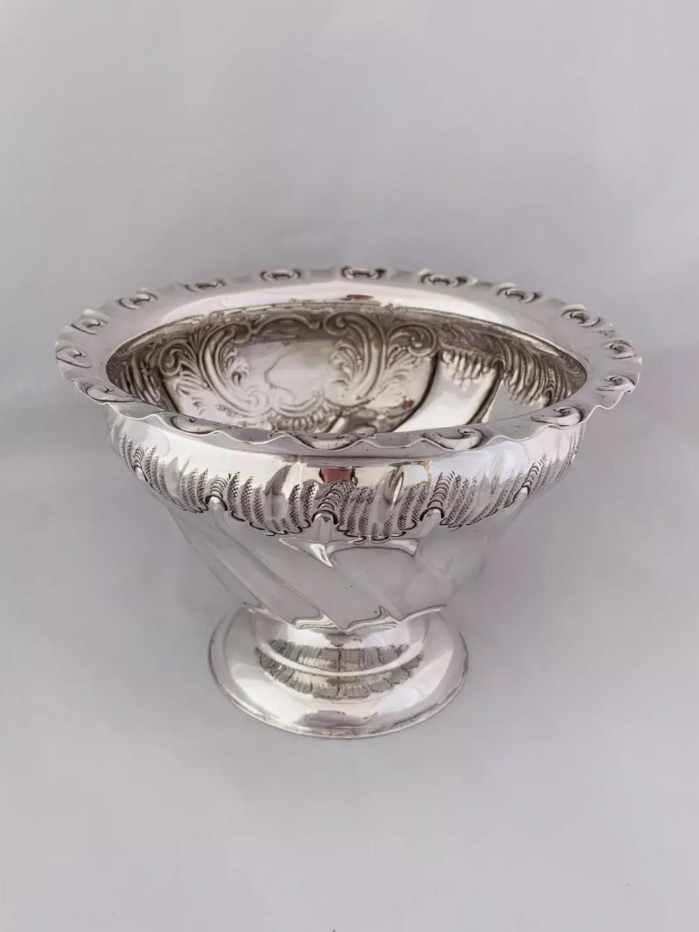 edwardian sterling silver sugar or sweet bowl 1908 sheffield henry atkin