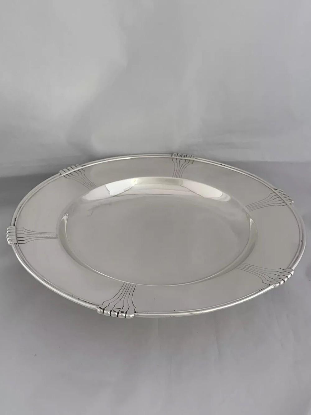 large solid silver art deco pedestal dish 1938 sheffield mappin webb