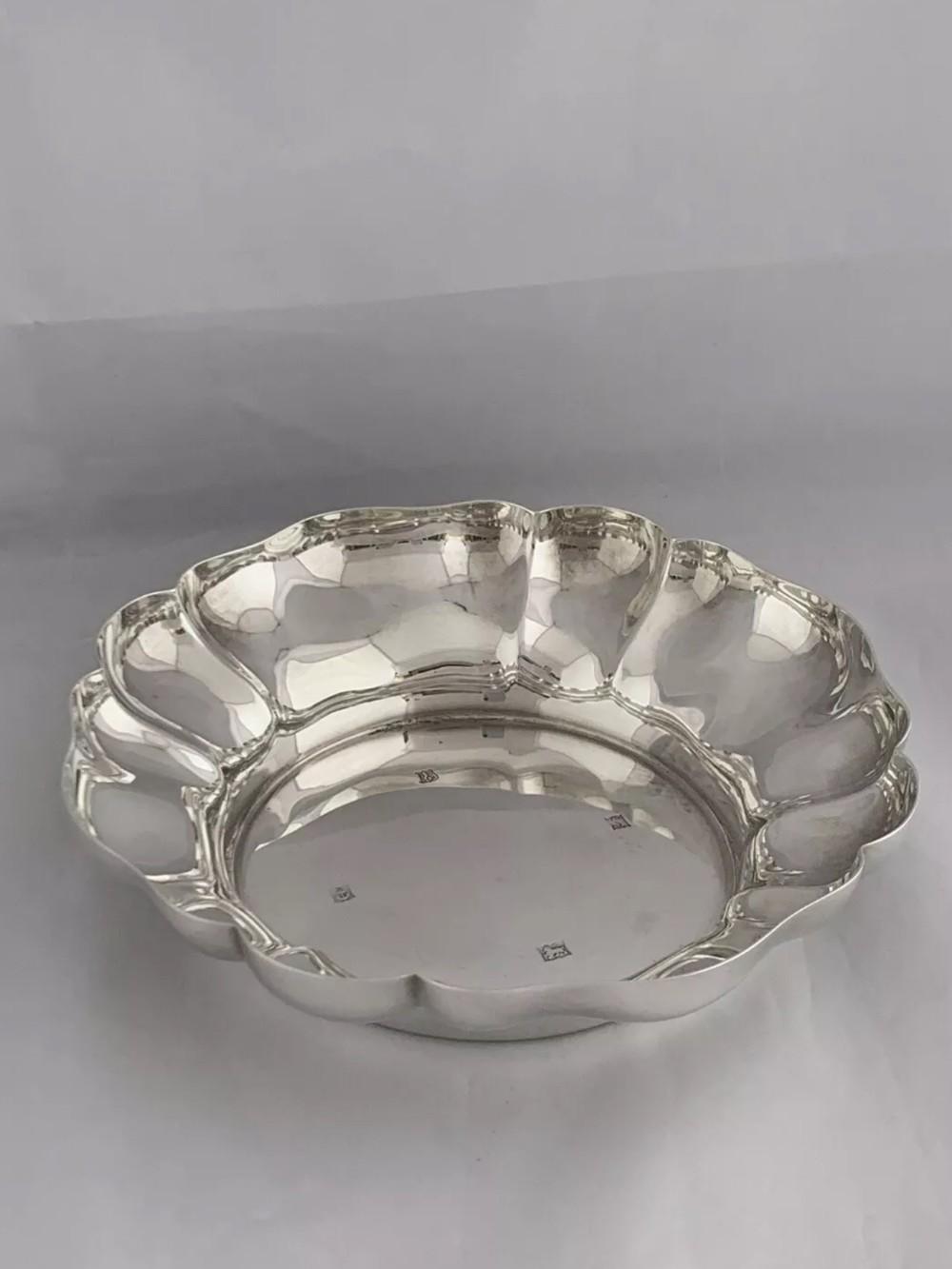 solid silver strawberry dish 1967 birmingham heavy sterling silver