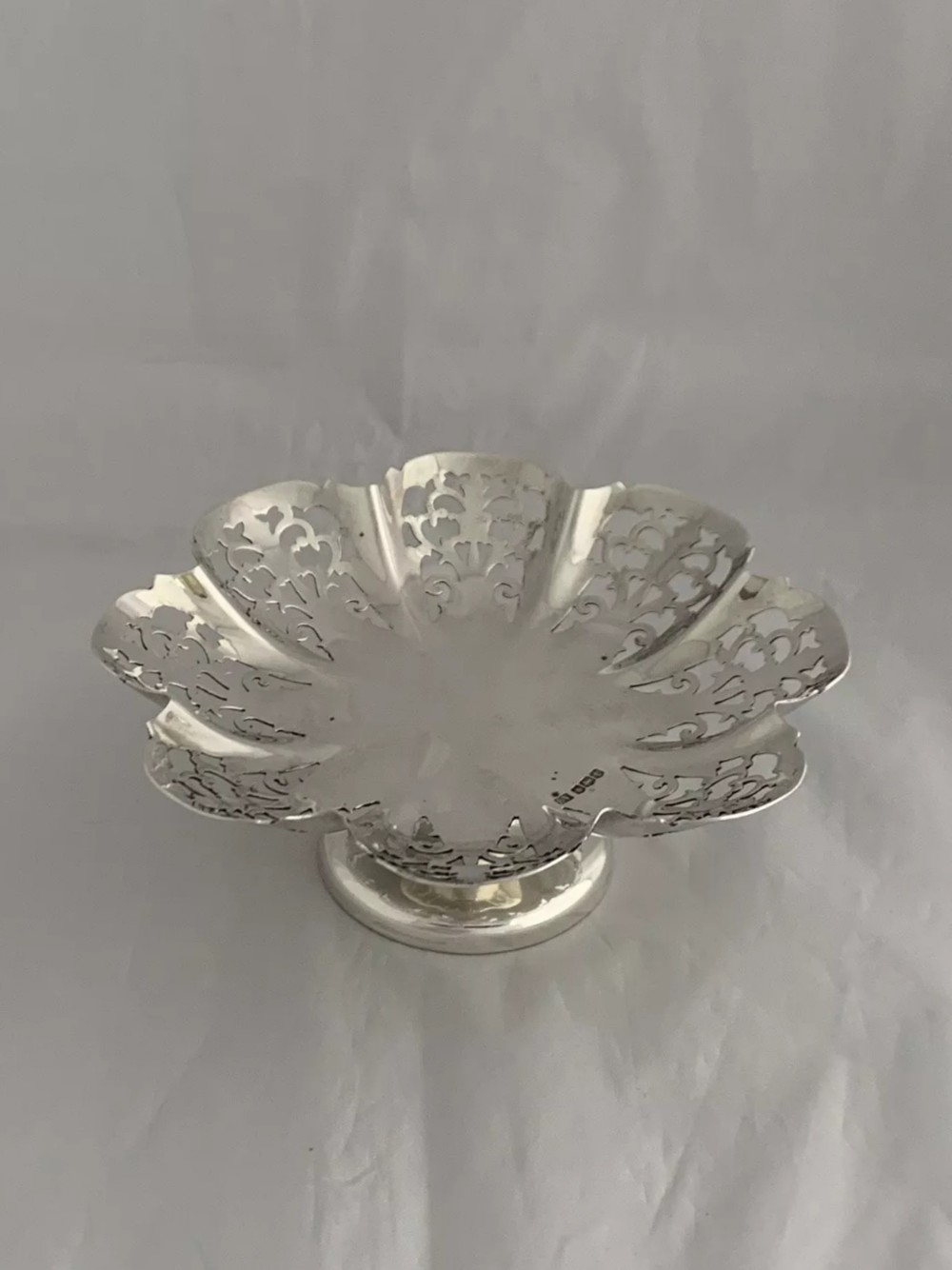 antique silver pierced dish or bowl 1936 sheffield emile viner 15cm diameter