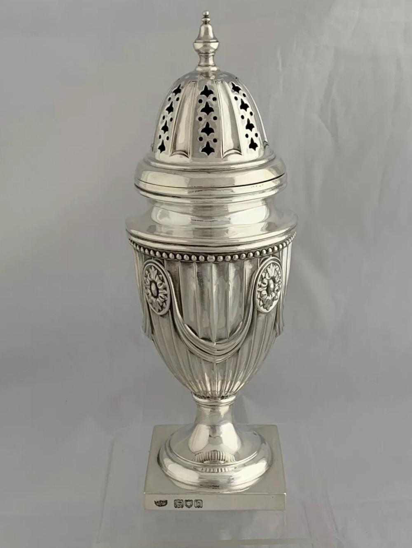 large victorian antique silver sugar shaker 1897 london sugar caster sterling