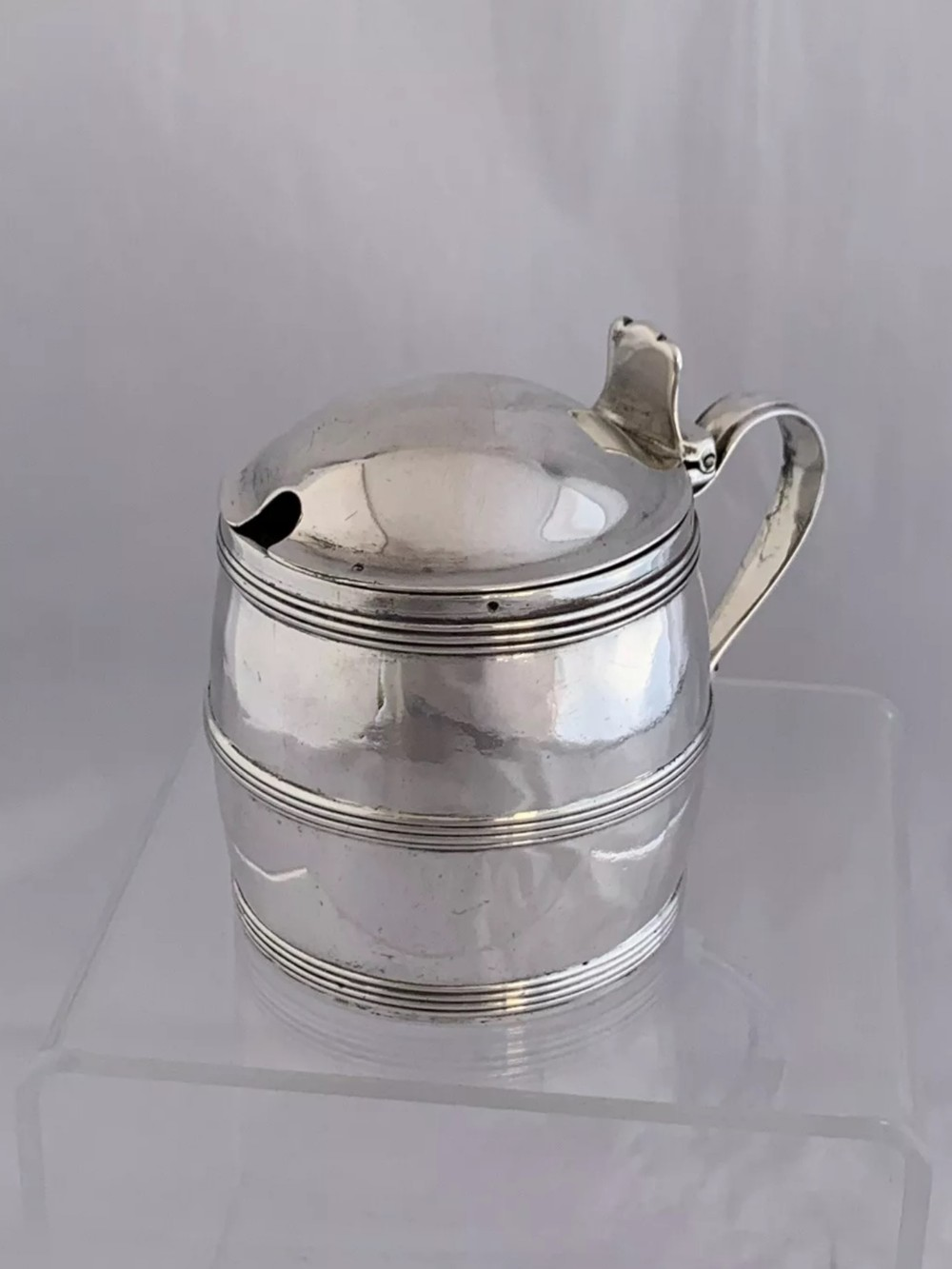large antique silver george iii mustard pot 1801 london james mince sterling