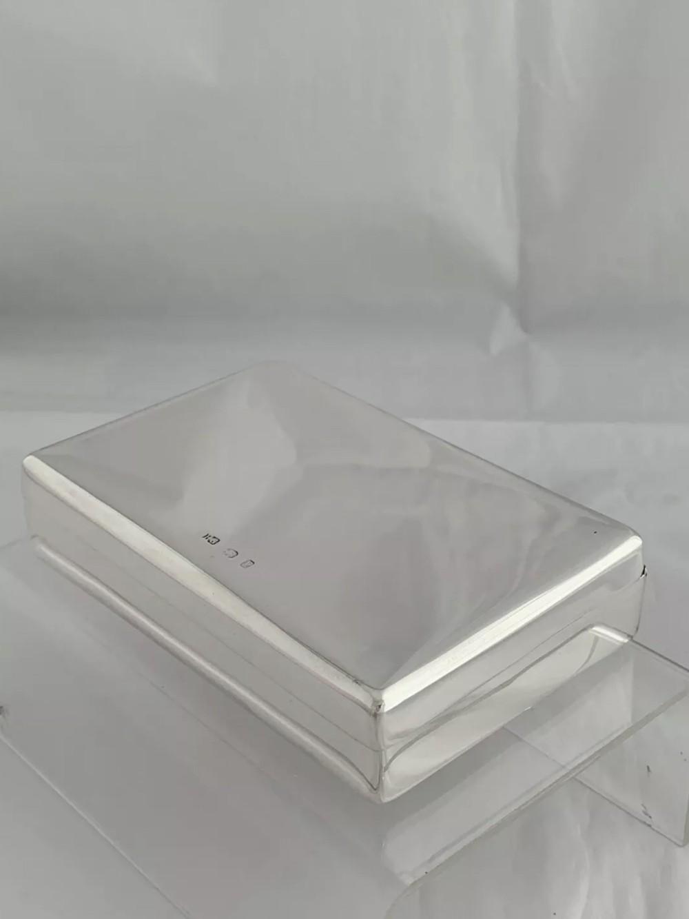 victorian antique silver sandwich box 1898 birmingham henry griffith