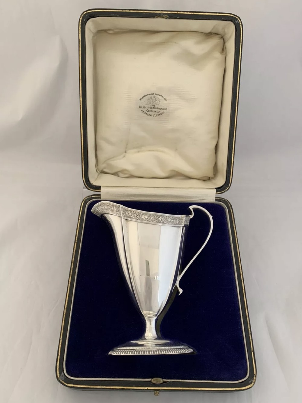 antique silver cream jug or milk jug 1925 london goldsmiths silversmiths ltd