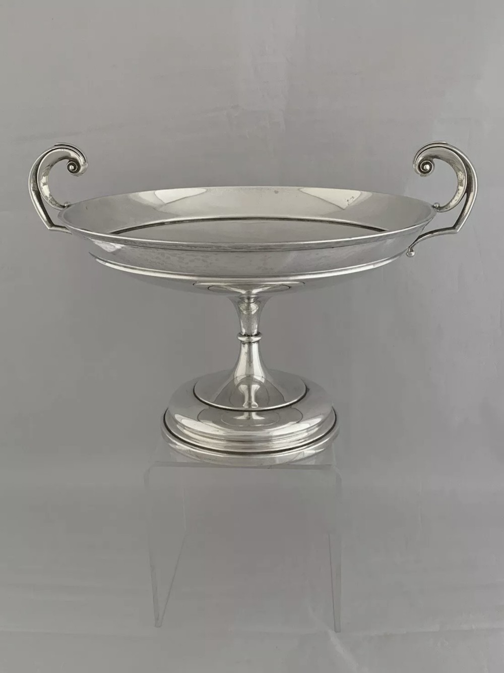 large antique silver pedestal bowl comport 1910 sheffield walker hall sterling