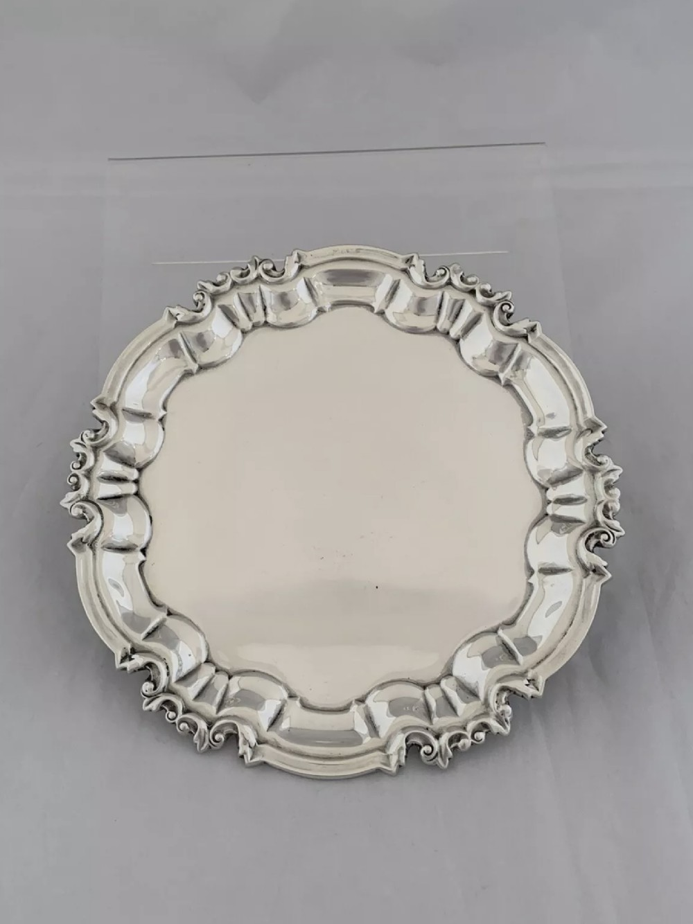 antique silver waiter tray 155cm sheffield 1917 william hutton sterling silver