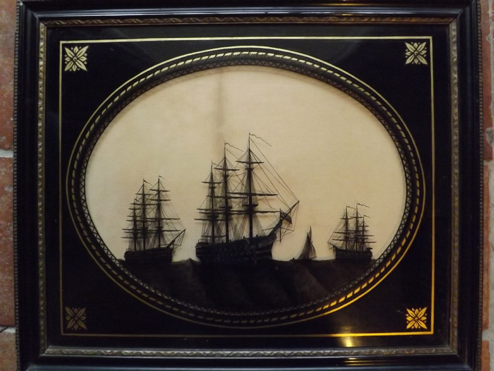antique silhouette hms victory ships of the line