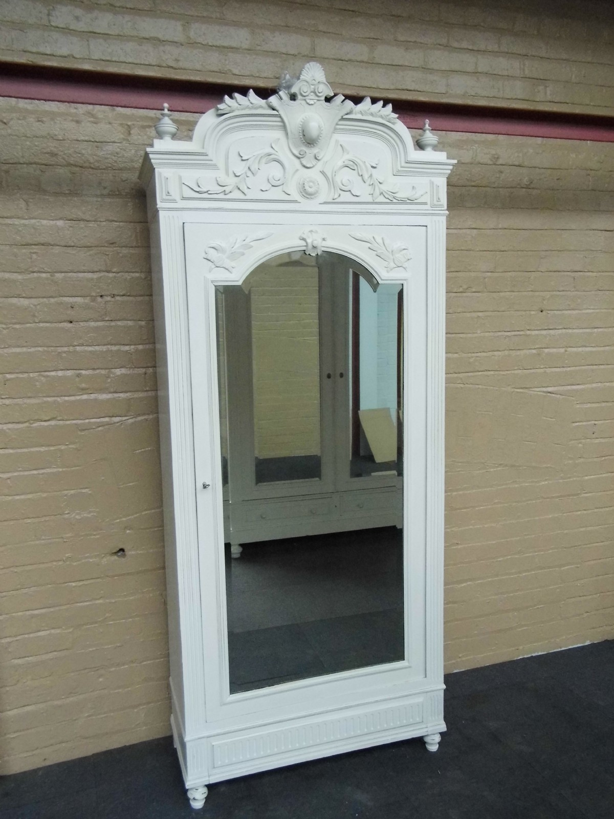 Superieur Carved Painted French Armoire