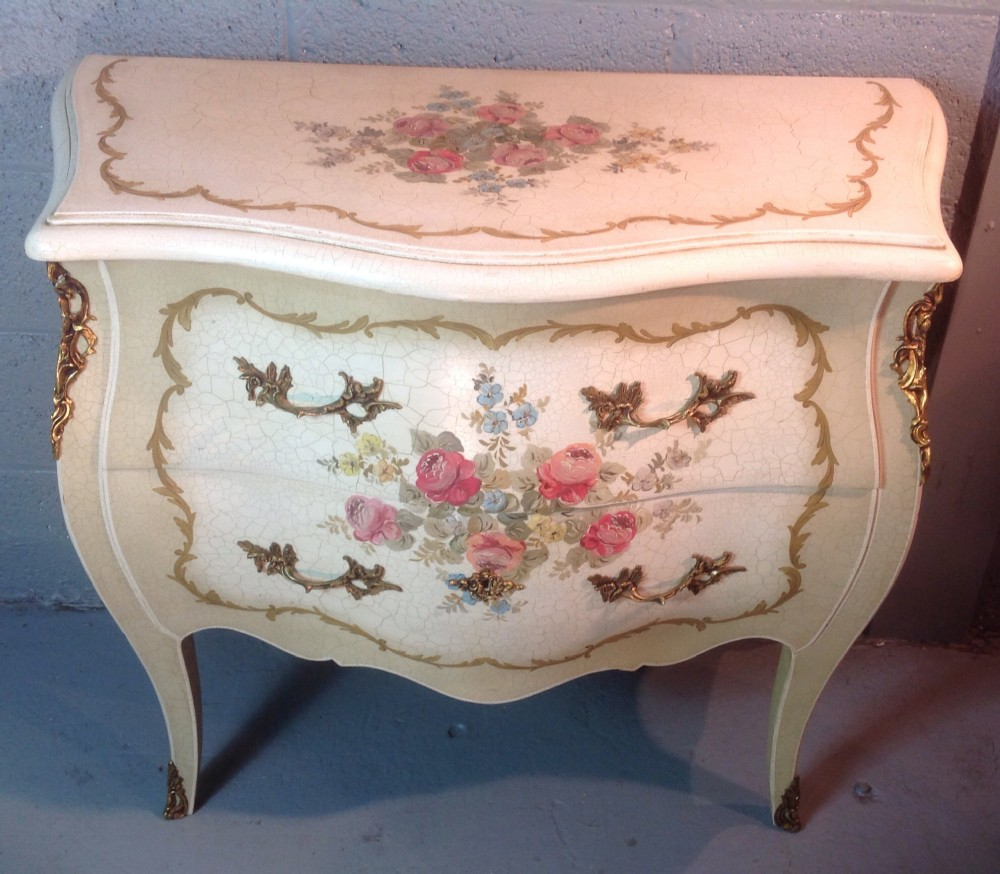 Hand painted french commode chest 306205 for Hand painted chests