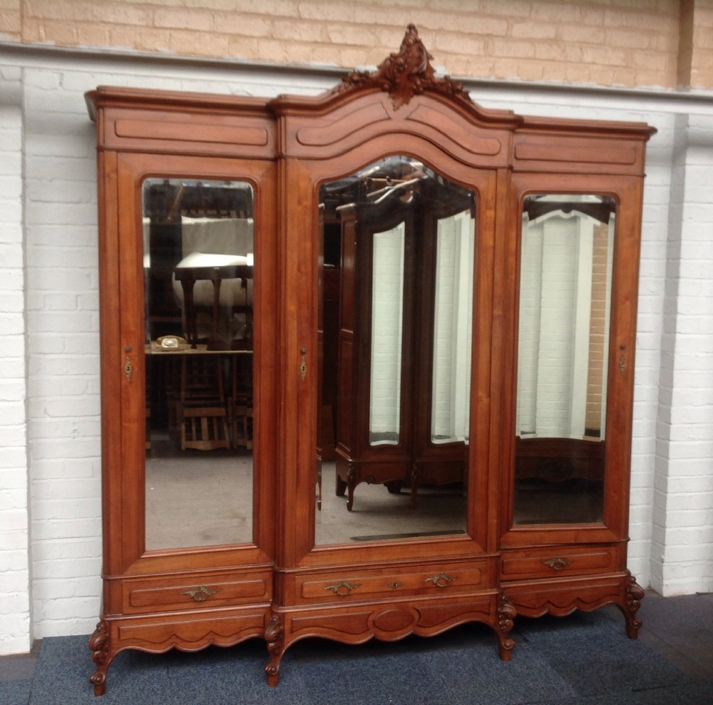 Large Walnut French Triple Armoire | 246895 ...