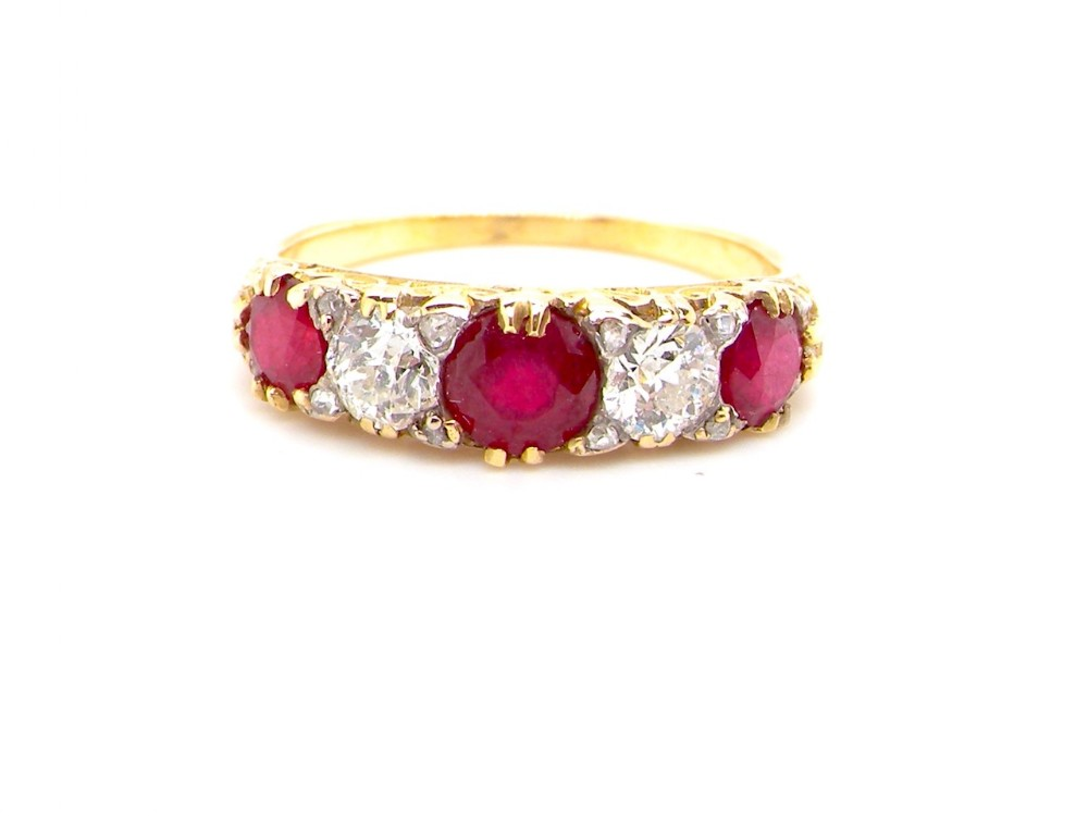 an antique ruby and diamond ring