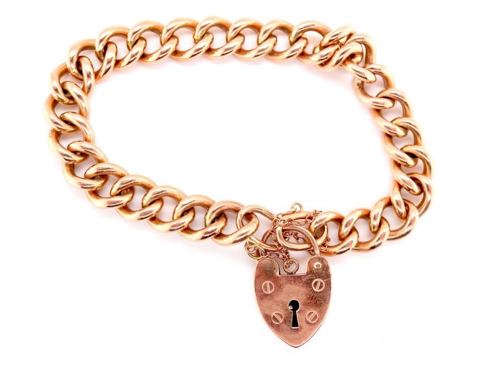 a vintage rose gold bracelet