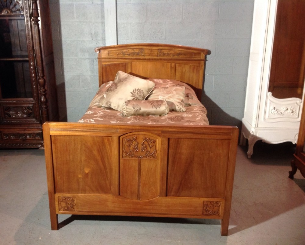 French mahogany arts and crafts bed 446195 for Arts and crafts beds