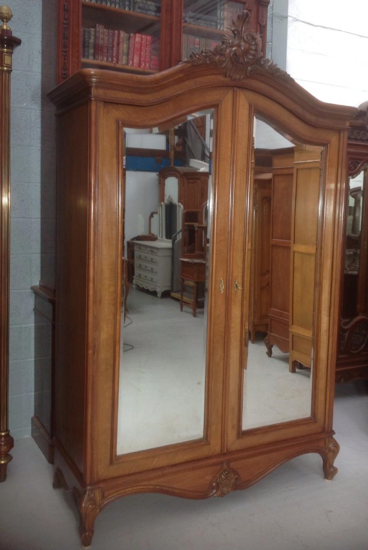 french mahogany armoire
