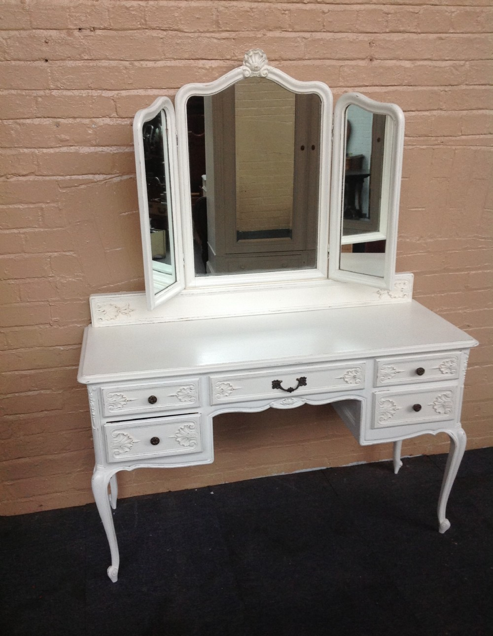 Painted french dressing table sellingantiques