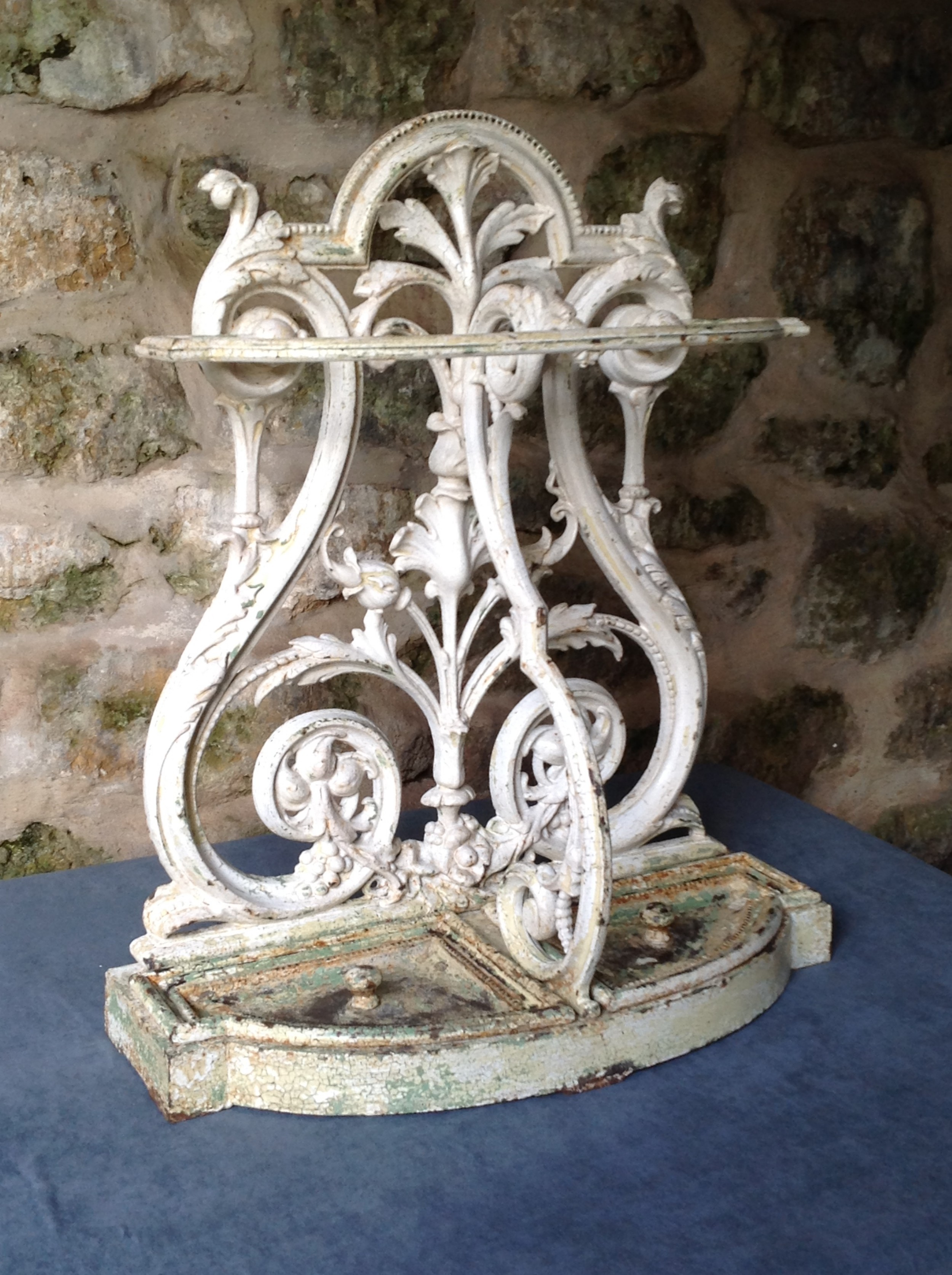 magnificent victorian cast iron stickumbrella stand