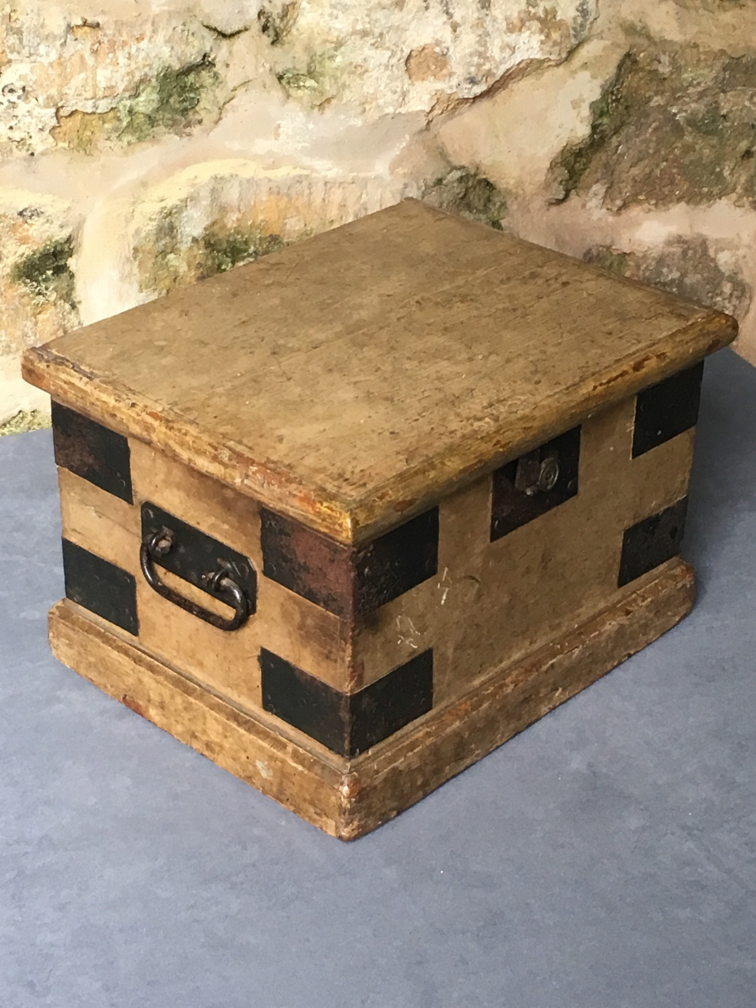 very small victorian painted trunk
