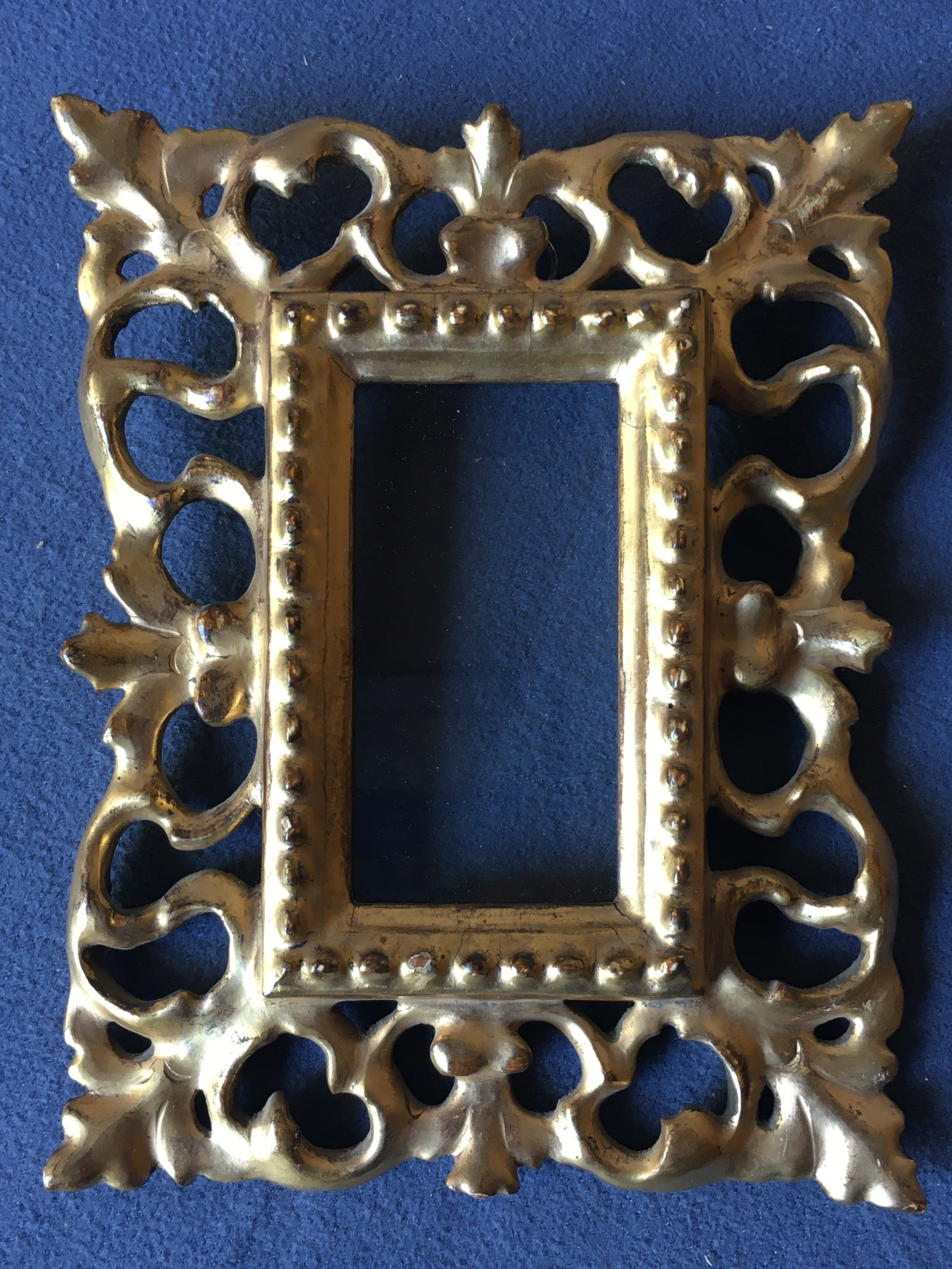 charming miniature giltwood picture frame