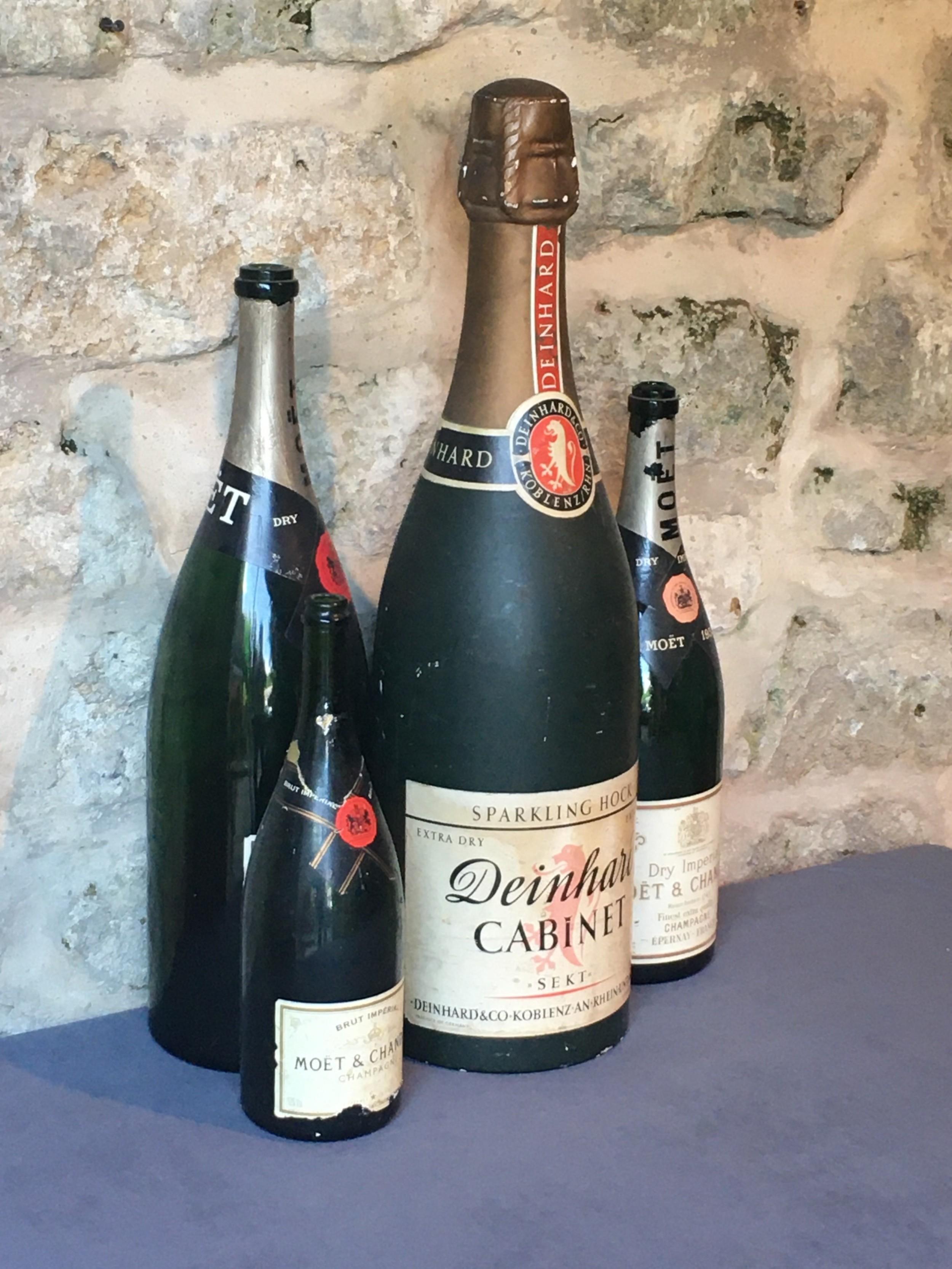 giant advertising sparkling wine bottle 3 more
