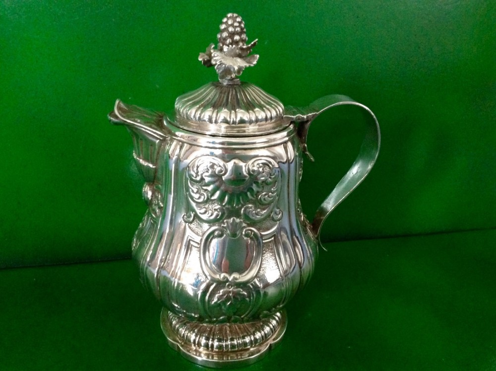 antique georgian silver lidded wine claret jug hennell 1822