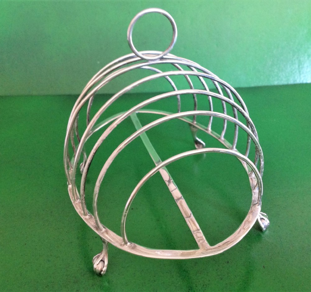 hester bateman antique georgian silver toast rack 1786