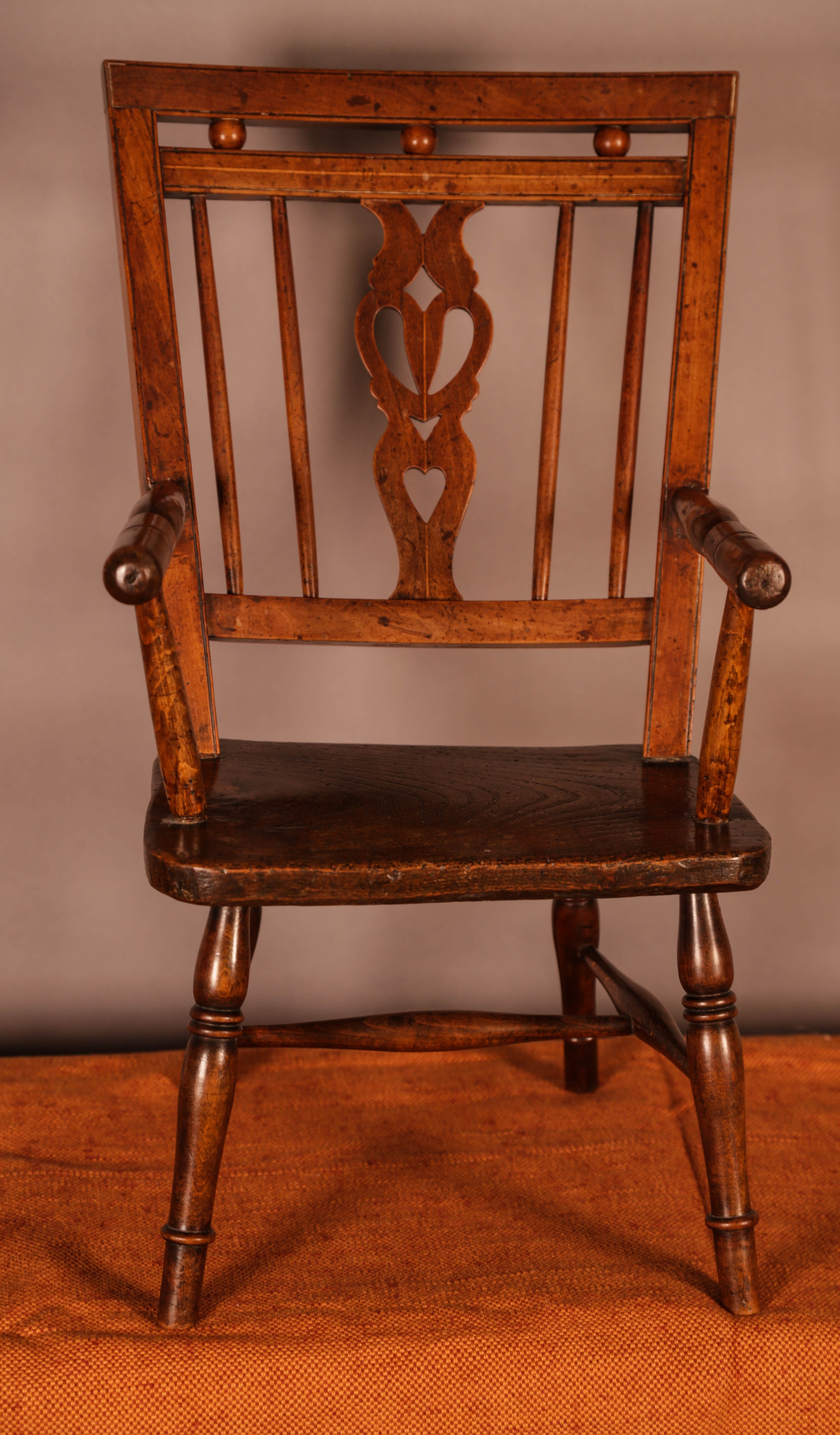 a rare childs mendlesham chair in yew wood