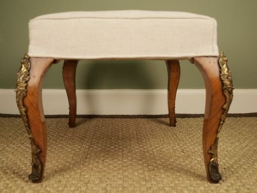 a 19th c french walnut and ormolu mounted stool