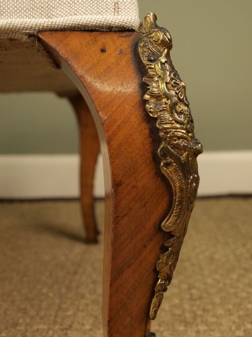 a 19th c french walnut and ormolu mounted stool - photo angle #2