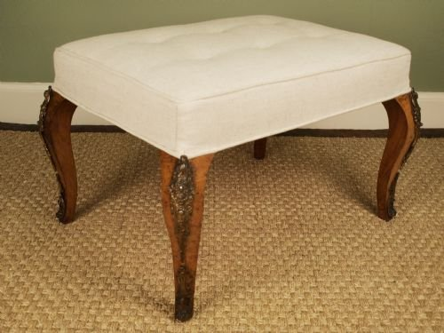 a 19th c french walnut and ormolu mounted stool - photo angle #4
