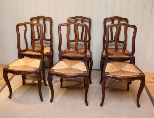 Set Of Six Beech Dining Chairs | 535170 | Sellingantiques ...