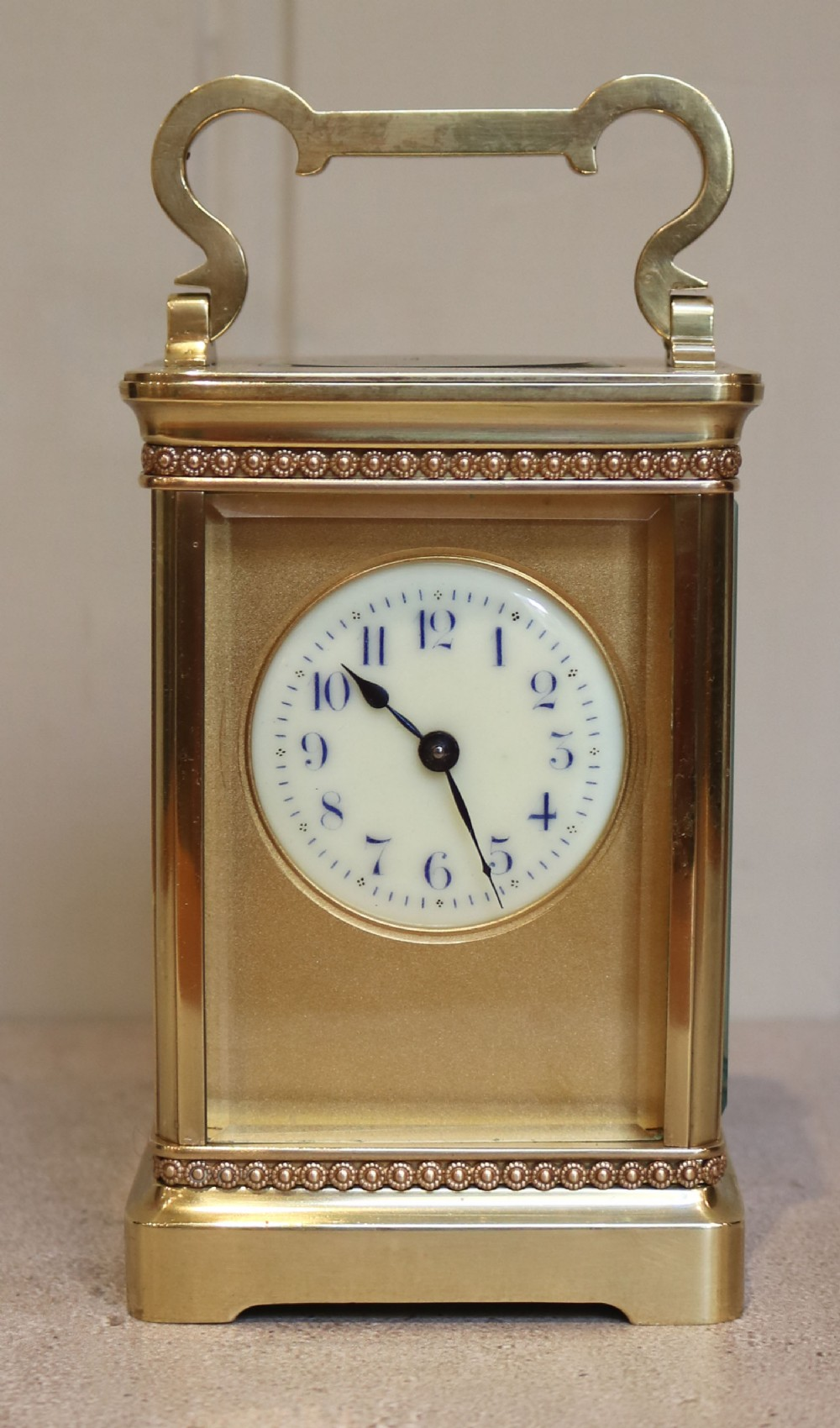 edwardian brass carriage clock france c 1910